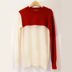 EFFECTEN(エフェクテン) beautifully S.E.D mohair knit (RED×WHITE) Lサイズ