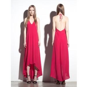 Krisa(クリサ) Halter Hi Lo Dress GERANI サイズS