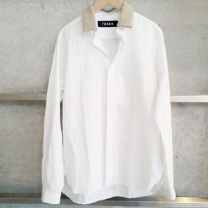 TaaKK(ターク) BOA COLLAR シャツ WHT サイズ2
