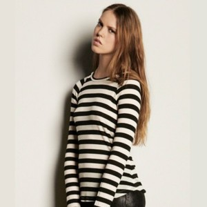 Graham&Spencer(グラハム&スペンサー) Striped Autumn Gauze Raglan Top