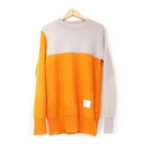 EFFECTEN(エフェクテン) beautifully S.E.D mohair knit (ORG×GRY) Mサイズ
