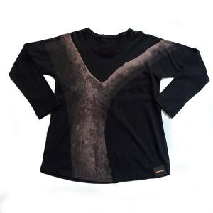 STeVeN TACH(スティーブンタック) Tシャツ ラグラン ブラック