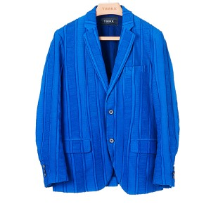 TaaKK(ターク) MIX-TAPE STRIPE ジャケット ブルー