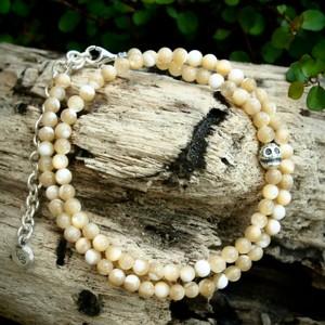 LOY CAN$(ロイキャンドル) Stone Skull Bracelet ストーンブレスレット Opal