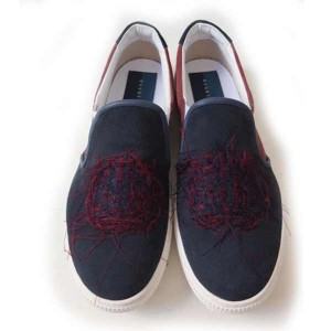 double t(ダブレット) EMBROIDERY SLIP-ON SNEACKER