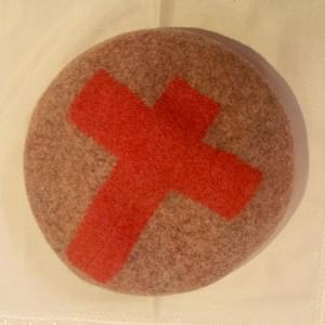 barairo no boushi(バラ色の帽子) ベレー帽 オレンジ クロス