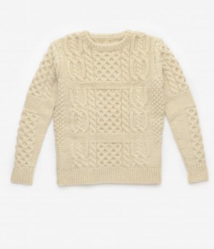 gigi Patchwork Aran Knit