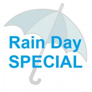 雨の日限定サービス!