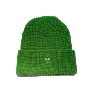 SPRAWLS(スプロールス) ニットキャップ 双葉刺繍 グリーン