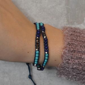 CHAN LUU×SYMPATHY OF SOUL Narrow Beads Bracelet チャンルー×シンパシーオブソウル ナロービーズブレスレット ブルーミックス