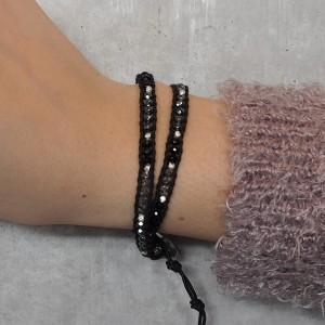 CHAN LUU×SYMPATHY OF SOUL Narrow Beads Bracelet チャンルー×シンパシーオブソウル ナロービーズブレスレット ブラックミックス
