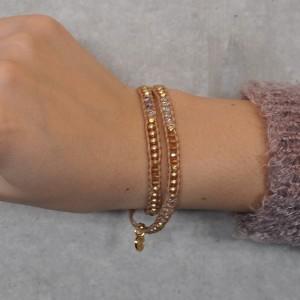 CHAN LUU×SYMPATHY OF SOUL Narrow Beads Bracelet チャンルー×シンパシーオブソウル ナロービーズブレスレット シャンパンミックス