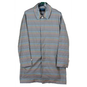 double t(ダブレット) SILK RAINBOW GINGHAM CHECK COAT サイズS