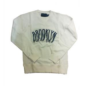 double t(ダブレット)  BROOLYN(ブルックリン) スウェット ホワイト Mサイズ