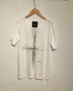 Fagassent(ファガッセン)  Tシャツ クロス サイズ2 ホワイト