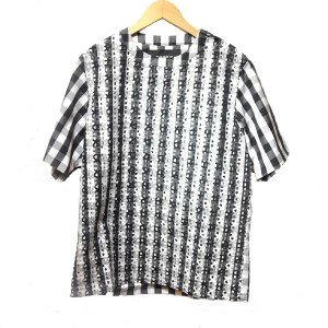 TaaKK(ターク)  Bonding Gingham PullOver Shirt(BLACK)