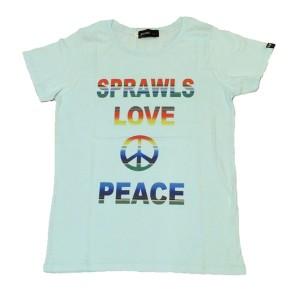 SAPRAWLS(スプロールズ) LOVE PEACE シャツ (水色)