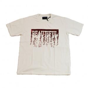 double t(ダブレット)  スパンコールTシャツ(WHITE)