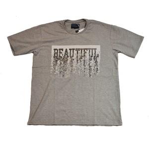 double t(ダブレット)  スパンコールTシャツ (GRAY)