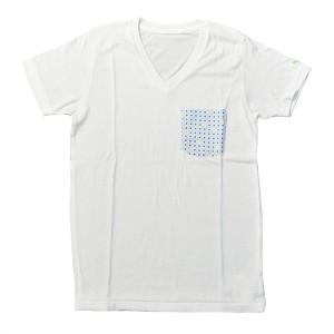 SAPRAWLS(スプロールズ) × RUKA  オリジナルTシャツ WHITE/light blue