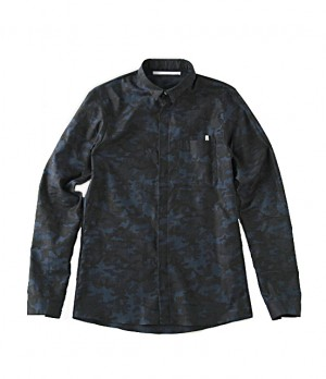 LUCIOLE_JEAN PIERRE(リュシオル_ジャン ピエール)  classical camouflge shirts  Black