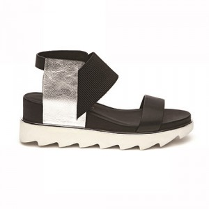 UNITED NUDE (ユナイテッド ヌード) silver/Black Sandal