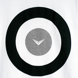 Shinyayamaguchi(シンヤヤマグチ) Target T-Shirt BLACK/WHTE