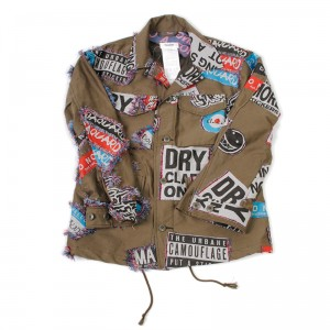 DOUBLET(ダブレット) STICKERS JACQUARD FIELD JACKET   KHA S size