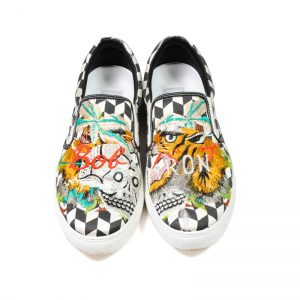 DOUBLET(ダブレット)  EMBROIDERY SLIP-ON SNEAKER BLK Size26.5cm