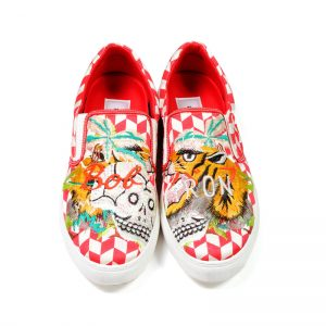 DOUBLET(ダブレット)  EMBROIDERY SLIP-ON SNEAKER RED Size26.5cm