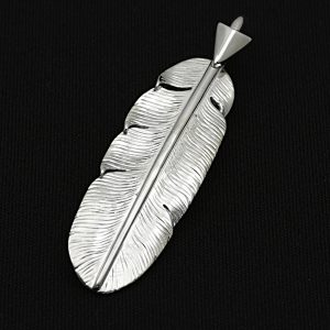 SYMPATHY OF SOUL  Arrow Feather Pendant No.003 (Small) - Silver
