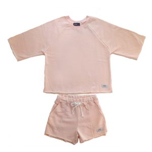 SPRAWLS(スプロールズ) Girl`s Cut-off Crew&Short Pants PNK SizGF