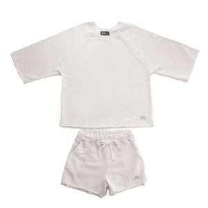 SPRAWLS(スプロールズ) Girl`s Cut-off Crew&Short Pants WHT SizGF