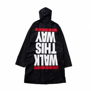 """WALK THIS WAY"" RAIN COAT / BLACK"