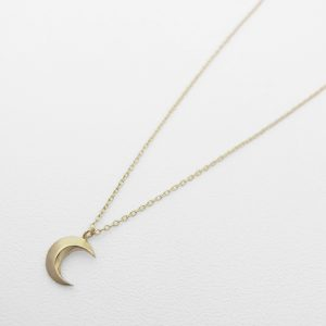 SYMPATHY OF SOUL Little Holy Moon Necklace – K10Yellow Gold