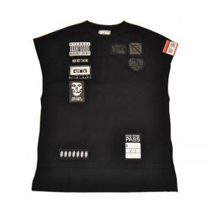 MIHARA YASUHIRO Embroidery Wappen Vest(BLK)
