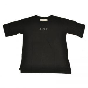 5 (FIVE) ANTI T-SHIRTS (BLACK)