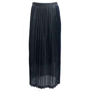 N-PROCESS (インプロセス) SHINY PLEATED MAXI SKIRT BLK