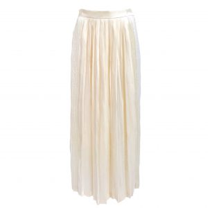 IN-PROCESS (インプロセス) SHINY PLEATED MAXI SKIRT BEG