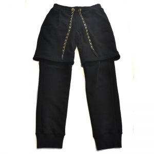 Shinyayamaguchi Layered Sweat Pants(BLK)
