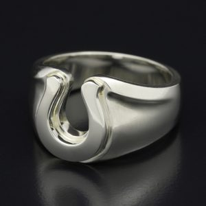 SYMPATHY OF SOUL Horseshoe Amulet Combination Ring – Silver
