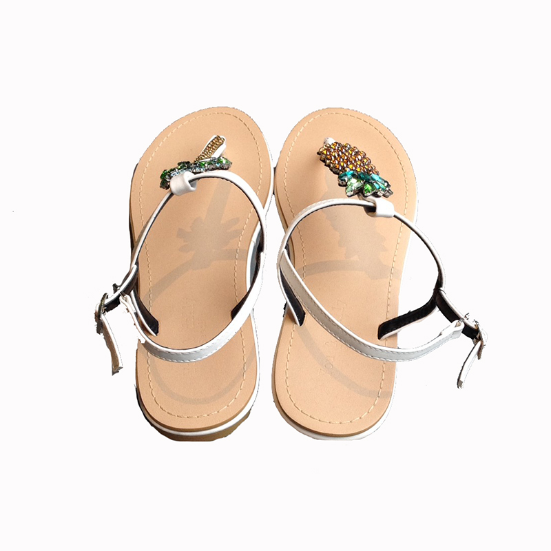 K pineapple sandals(WHT)