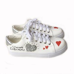 Heart Sneaker (WHT)
