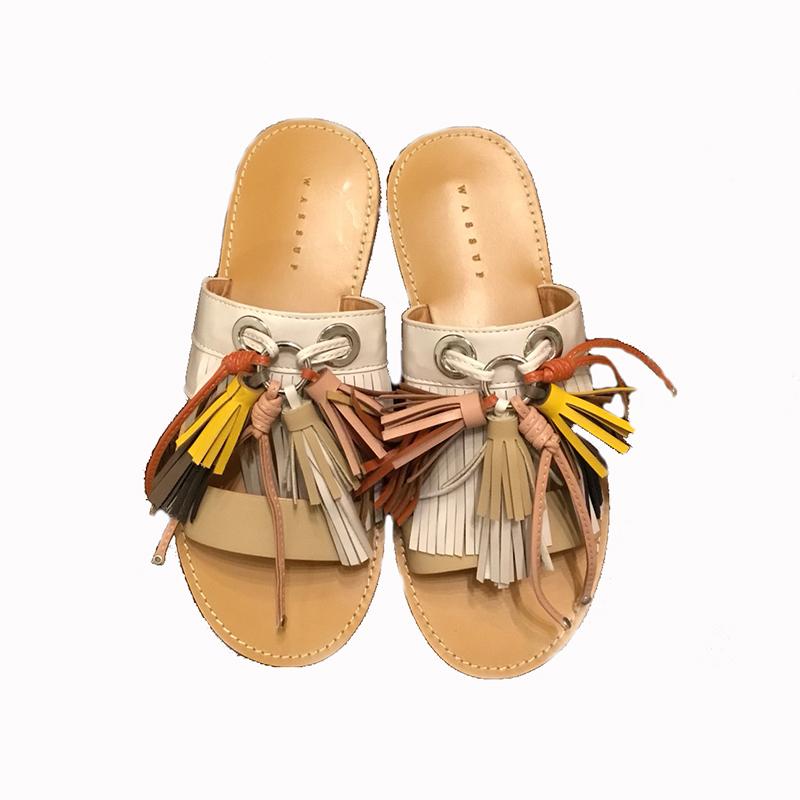 K Fringe sandals(BEG)