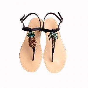 Pineapple bijou sandals(BLK)