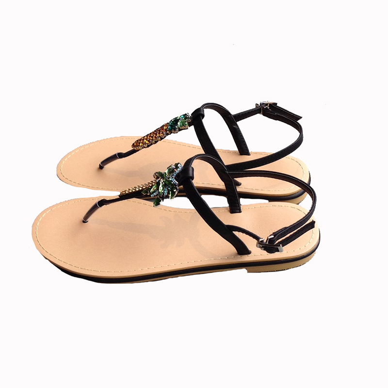 K pineapple sandals(BLK)