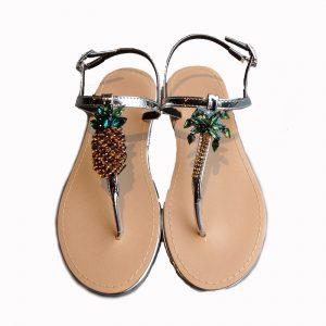 Pineapple bijou sandals(SIL)