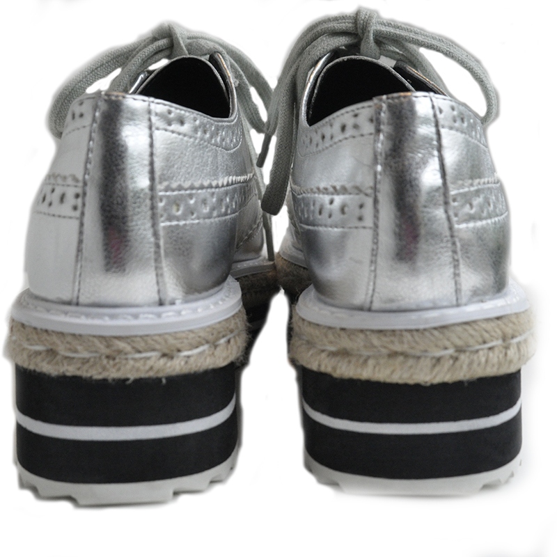 Platform enamel sneakers SIL