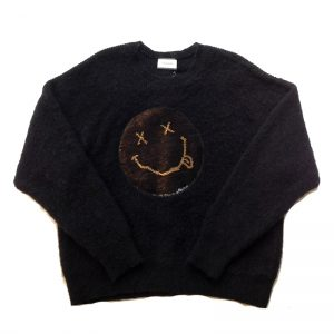 TAAKK(ターク) MOHAIR SMILEY KNIT BLK