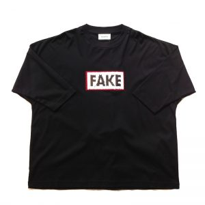 TAAKK(ターク) TIP OVER SPANGLE FAKE⇆REAL TEE BLK